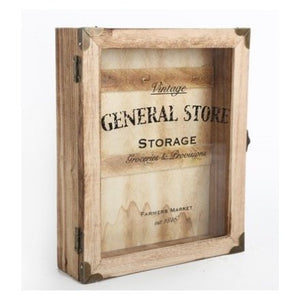 General Store Key Box Wooden