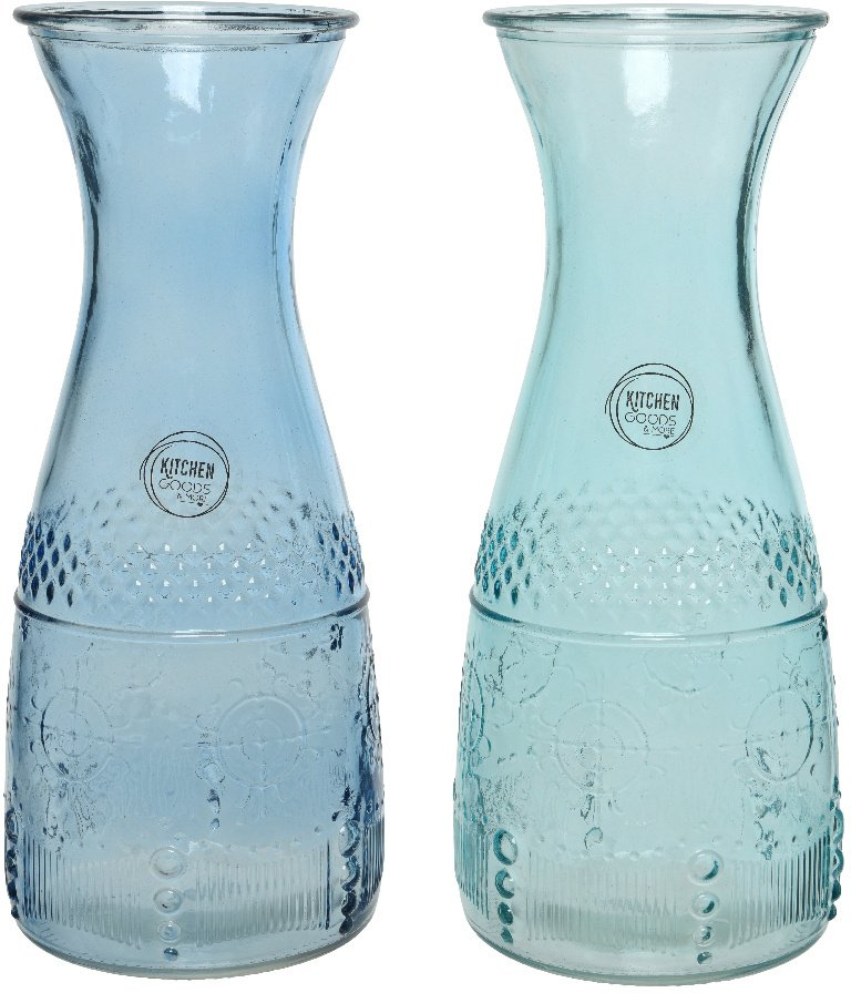 Ocean Waves Assorted Glass Carafes
