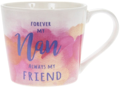 Watercolour Forever My Nan Mug