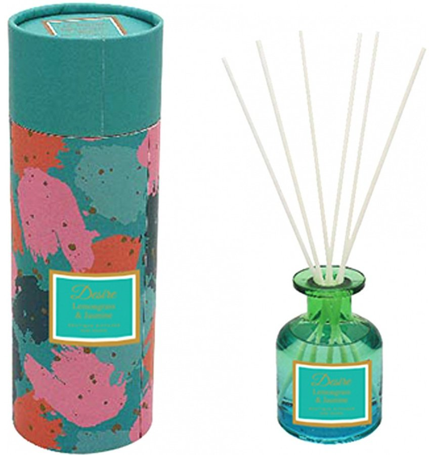 Lemongrass & Jasmine Desire Glass Reed Diffuser, 100Ml