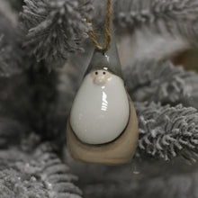 Load image into Gallery viewer, CERAMIC BEIGE SANTA HANGER, 8CM