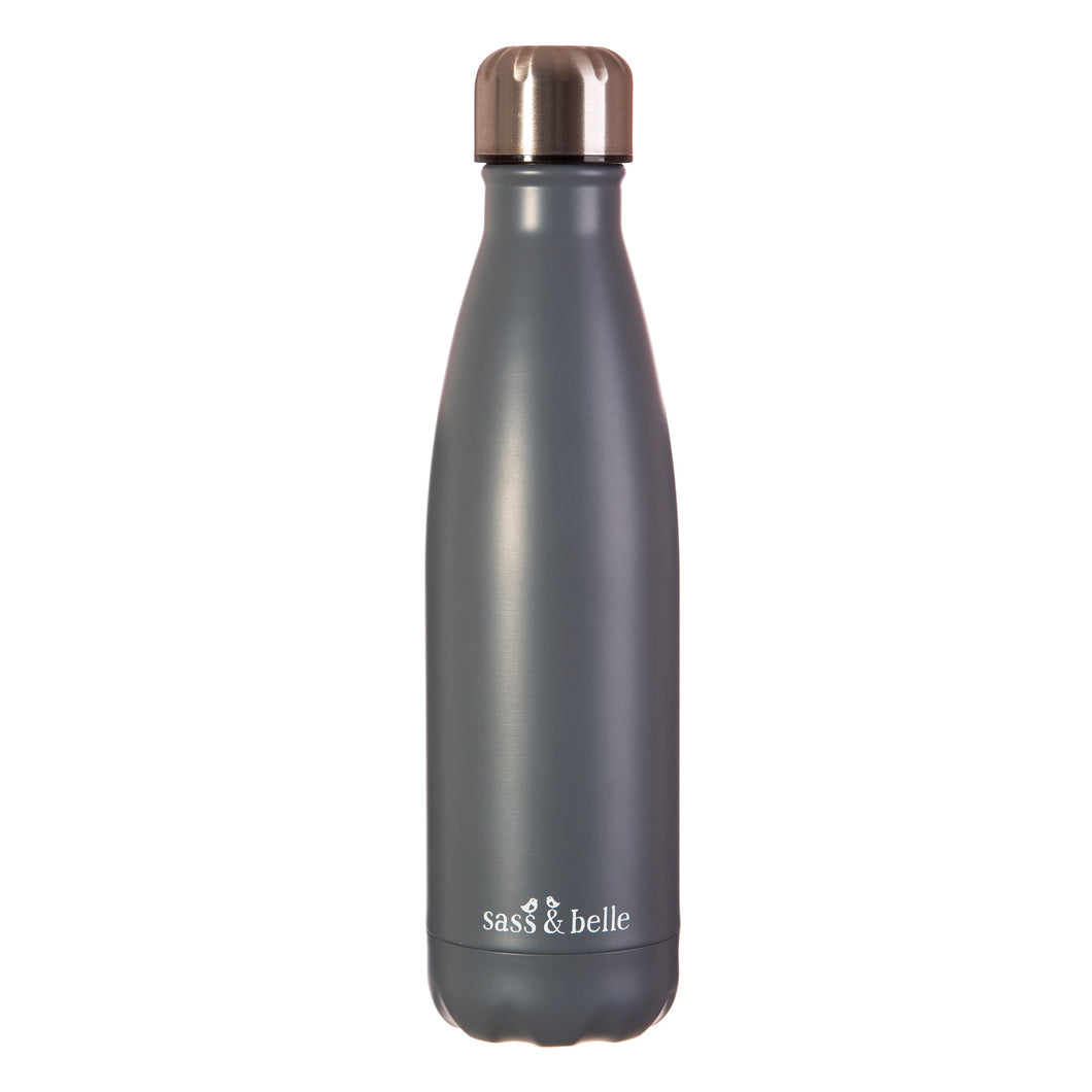 Sass & Belle Grey Stainless Steel Water Bottle
