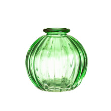 Load image into Gallery viewer, Green Glass Bud Vases - Set Of 3