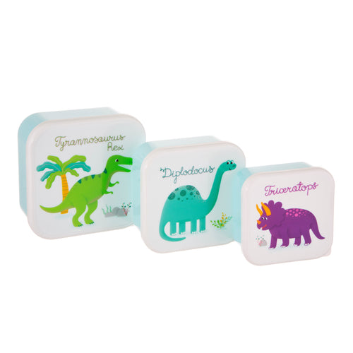 Set Of 3 Roarsome Dinosaurs Lunch Boxes