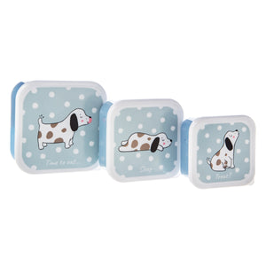 Barney The Dog Lunch Boxes - Set Of 3