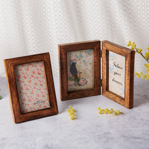 Single Portrait Photo Frame Wood Effect