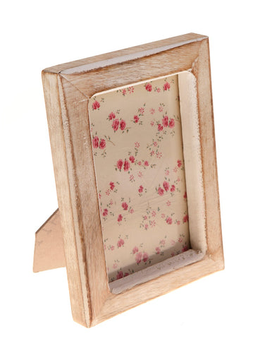 Single Portrait Photo Frame White Wood Effect