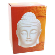 Load image into Gallery viewer, White Buddha Head Oil Burner