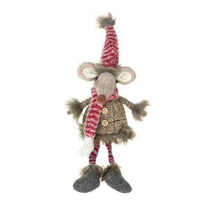 Fabric Sitting Mouse With Long Legs