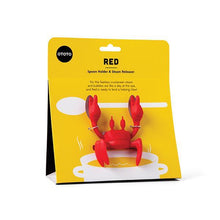 Load image into Gallery viewer, Red Crabby Spoon Holder & Steam Releaser