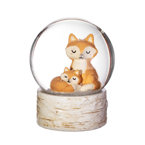 cute fox a cub snow globe for mums and kids, new baby gift