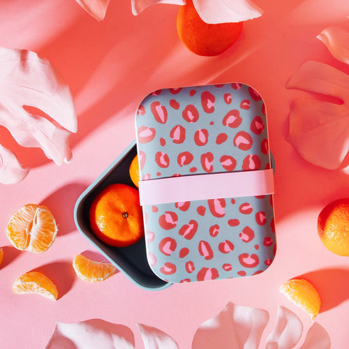 Leopard Love Bamboo Eco Friendly Lunch Box