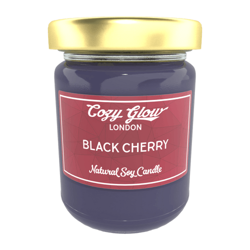Cozy Glow Black Cherry Large Soy Candle