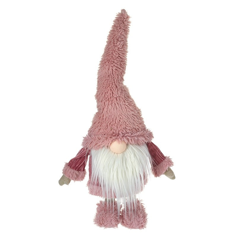 Large Gonk In Tall Pink Fluffy Hat