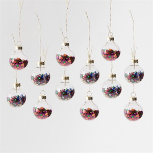 Mini Disco Star Baubles Set Of 12