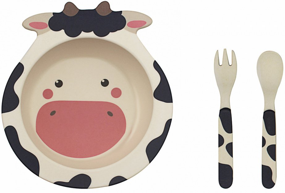 Cow Bamboo Eating Set