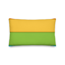 "Load image into Gallery viewer, Cozy Glow Pride Rainbow Background 20"" x 12"" Premium Pillow"