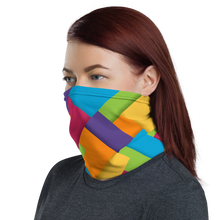 Load image into Gallery viewer, Cozy Glow Pride Rainbow Square Shapes Neck Gaiter