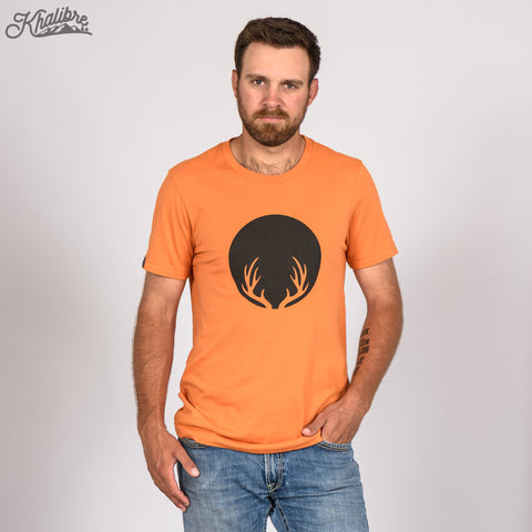 Men's Deer Antlers T-Shirt - Burnt Orange