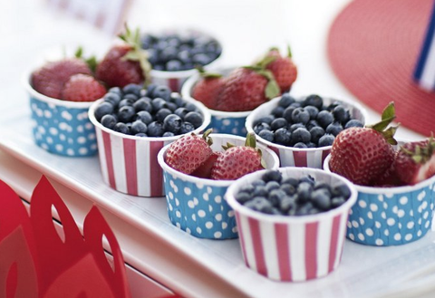 4th of july fruit cups