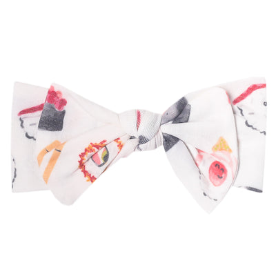 Knit Headband Bow - Baja