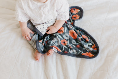 Three-Layer Security Blanket Set - Poppy