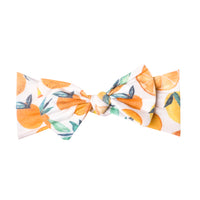 Knit Headband Bow - Citrus