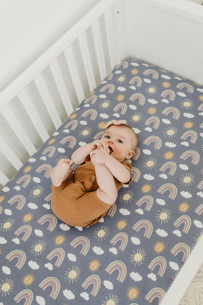 Premium Knit Fitted Crib Sheet - Hope