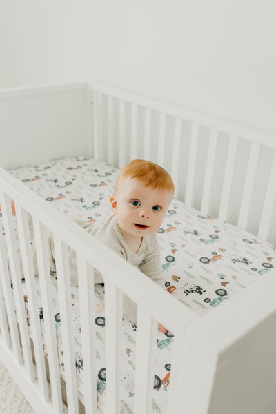 Premium Knit Fitted Crib Sheet - Jo