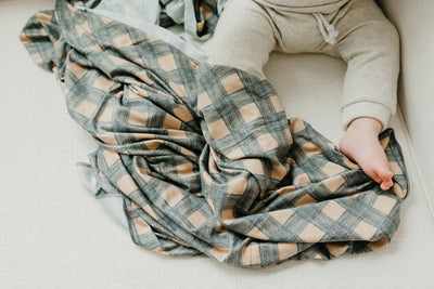 Knit Swaddle Blanket - Billy