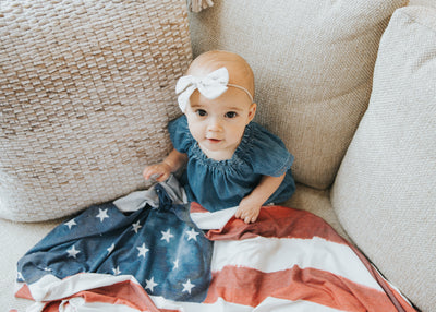Knit Swaddle Blanket - Patriot