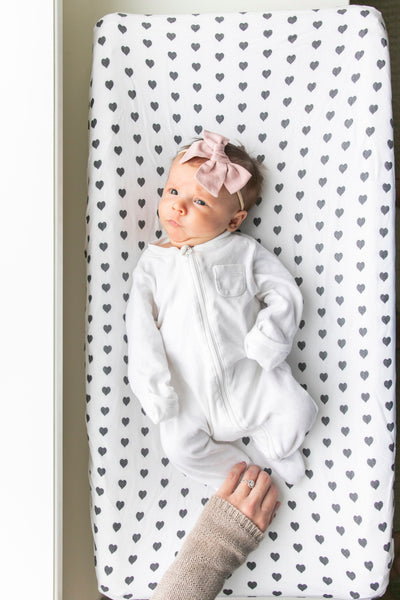 Premium Knit Diaper Changing Pad Cover - Smitten