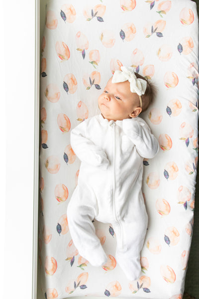 Premium Knit Diaper Changing Pad Cover - Caroline