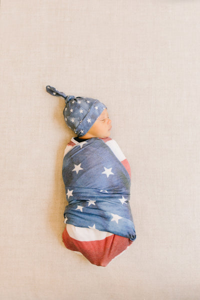 Top Knot Hat - Patriot