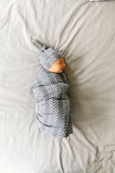 Newborn Top Knot Hat - Canyon