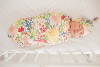 Newborn Top Knot Hat - Lark