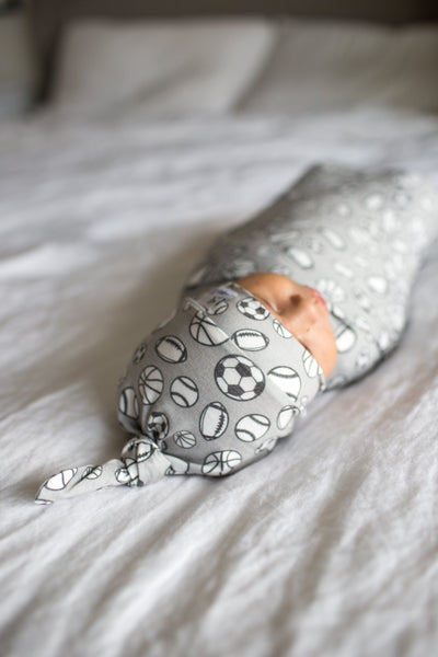 Knit Swaddle Blanket - Champ