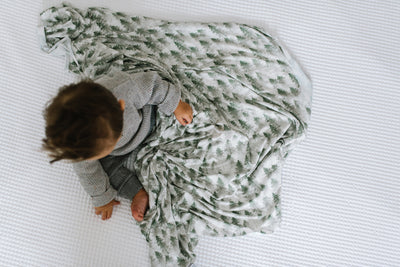 Knit Swaddle Blanket - Evergreen