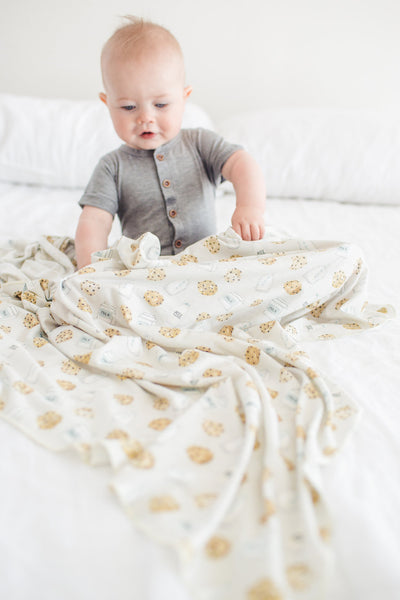 Knit Swaddle Blanket - Chip