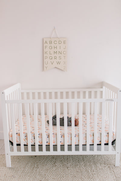 Premium Knit Fitted Crib Sheet - Caroline