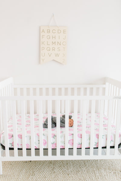 Premium Knit Fitted Crib Sheet - Grace