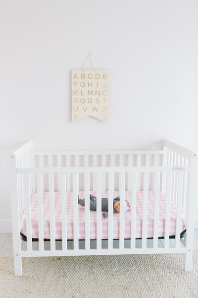 Premium Knit Fitted Crib Sheet - London