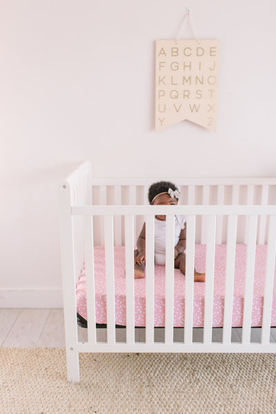 Premium Knit Fitted Crib Sheet - Lucy