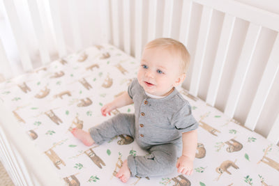 Premium Knit Fitted Crib Sheet - Noah
