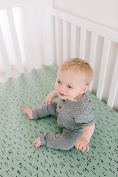 Premium Knit Fitted Crib Sheet - Poe