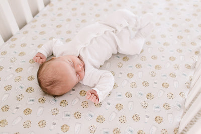 Premium Knit Fitted Crib Sheet - Chip