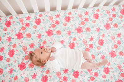 Premium Knit Fitted Crib Sheet - June