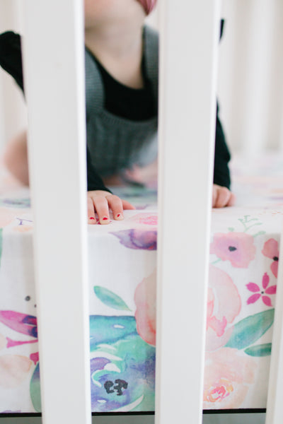 Premium Knit Fitted Crib Sheet - Bloom