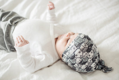 Newborn Top Knot Hat - Urban