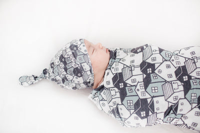 Knit Swaddle Blanket - Urban